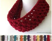 Red Cowl - Choose Your Color - Red Knit Cowl - Red Crochet Cowl - Chunky Cowl - Cowl Scarf