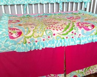 Kumari Garden Custom Crib Bedding