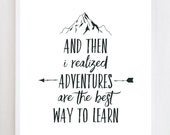 Adventure Quote Wall Art Print