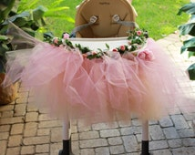 Tutu Garland - High Chair - Tutu skirt - First Birthday - Shabby Chic - ALL COLORS