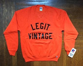 legit vintage X russell athletic crewneck sweatshirt mens size medium deadstock NWT 90s made in USA