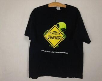 vintage alien shirt size L