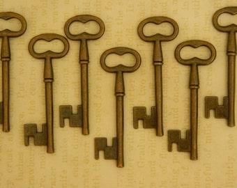 10 skeleton keys antique keys old key wedding keys favors vintage keys bulk pendant key bronze key clés anciennes graduation party favors