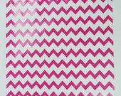 "25 12""x15"" Hot Pink Chevron Poly Mailer Envelopes"