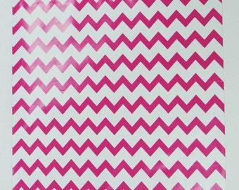 "100 9""x12"" Hot Pink Chevron Poly Mailer Envelopes"