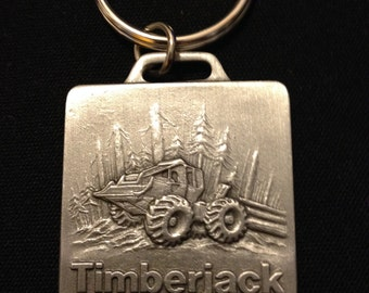 Timberjack Key Chain with Key Ring New/Unused Skidder Forest Logging