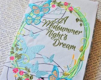 A Midsummer Night's Dream Book Cover Machine Embroidered 100% Cotton
