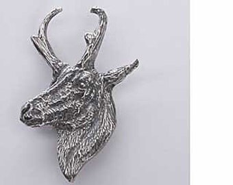 Pewter - Pronghorn Antelope - Lapel Pin/Brooch - M022,MC022,MP022