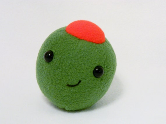 Plush Food Toys : Plush olive stuffed food toy by mamamayberrys on etsy