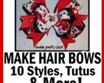DIY Hairbow Tutorial How to Make Boutique Hair Bows Instructions