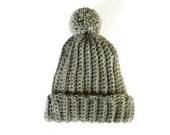 Beanie chunky knit pom pom winter hats crochet unisex hat handmade accessories