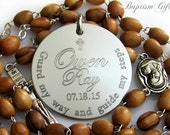 Baptism Gift.  Personalized, Custom, Engraved Gift. Baptism Gift Boy. Girl. Catholic Gift. Girl. Baptism Rosaries. N1