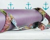 Flowers Batik Adjustable Yoga Mat Strap Sling Carrier - Woodland Boho Batik Adjustable Yoga Mat Sling