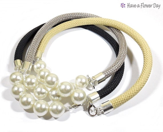 Collares Cuerda Escalada y Perlas
