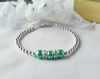 Gift Giving, The TRIIIXXY Friendship Bracelet, This One's in Kelly Green, Mix and Match -- One, Two or a Set of Three