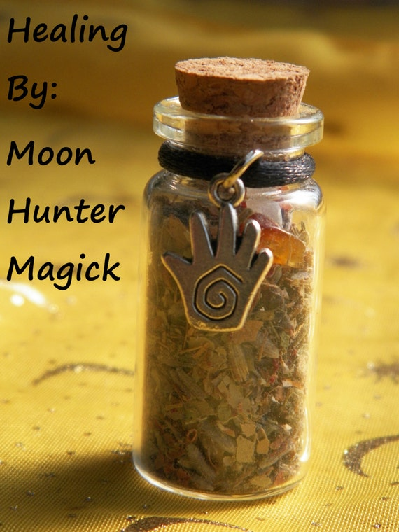 Healing Herbal Blend Incense Witch Bottle Health Charm Healing Talisman