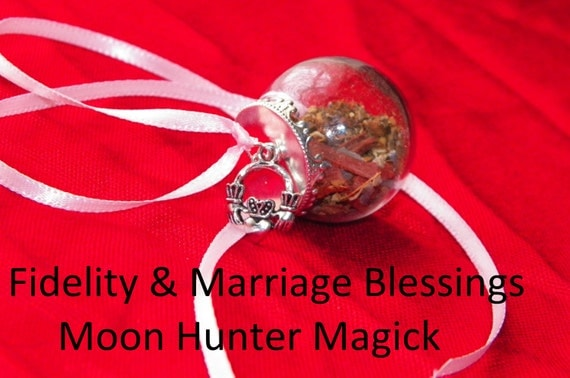 Fidelity Handfasting Blessings Charm Mini Witch Ball Witch Bottle Pagan Wedding Wicca Reiki