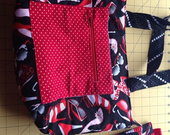 Red and black fashion purse!