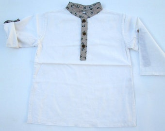 White Children Shirt,Boys Easter Shirt,Summer Beach Wedding,White Kaftan,Wedding Shirts,First Birthday Outfit,Toddler Boy Clothes