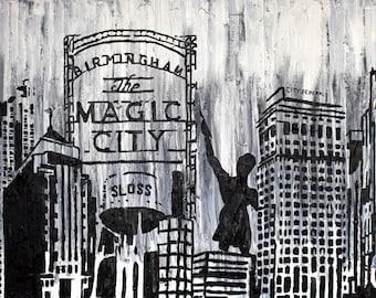 Black and White Birmingham - Print