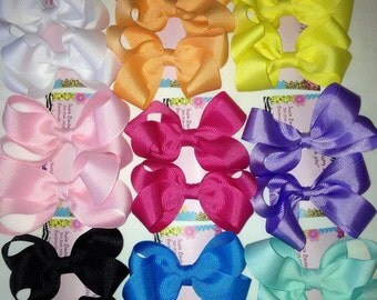 Set of 2 pigtail Hair Bows!