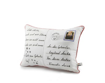 postcard pillow® love & lettered by us