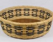 "BASKET WEAVING PATTERN ""Natalie"" Round Table Basket or Tray"