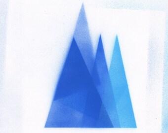 Modern geometric triangle original painting