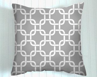 PILLOW,  Gray Throw Pillow, Pillow Cover,  20 x 20inch , Decorative Pillows,  Accent Pillow,  Home Decor Pillow
