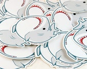 Derpy Great White Shark Sticker