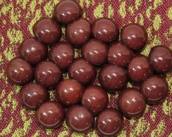 23 Chocolate Brown/Dark Burgundy Buttons