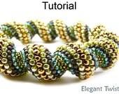 Beading Tutorial Bracelet Necklace - Tubular Peyote Stitch - Simple Bead Patterns - Elegant Twist #438