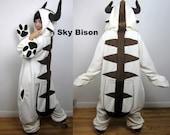 Sky Bison Kigurumi -- Ready-to-Ship Handmade Anti-pill Fleece Onesie