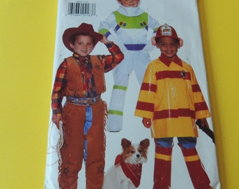Butterick 4654 Boys Halloween Costume Pattern, all sizes Uncut