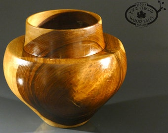 Hand turned  wooden Vase from Indian rose Wood.