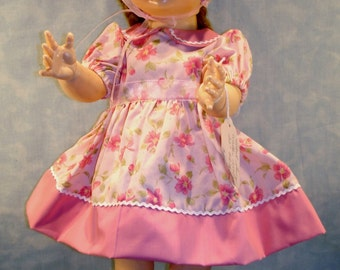 20-22 Inch Doll Clothes - Pink Blossoms Outfit made by Jane Ellen to fit 20-22 inch baby dolls