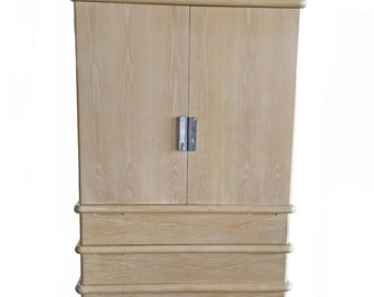 Jay Spectre For Century Furniture High Chest Of Drawers Armoire Dresser In White Oak