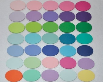 Reserved listing.120  Die cut Ovals  in color #34,  Mini note  Escort card  Party  tags