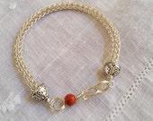 Viking knit single weave sterling bracelet