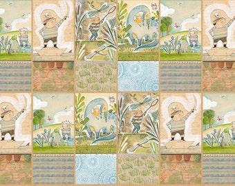 The Adventurers Wonder by Cori Dantini for Blend Fabrics - 1 Yard -  Boy Fabric - Pirates Fabric - Quilt Fabric - Boy Nursery Fabric