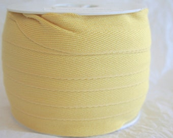 "1"" Cotton Twill Tape, Apron Tape, Herringbone 7 SOLID COLORS"