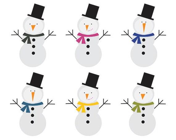Clipart Sale 60% off, Snowman Clipart, Digital Design ...