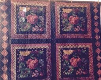 Flowered Fabric Panel/Quilt Top!!