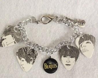 """Beatles """"Revolver"""" guitar charm bracelet"""