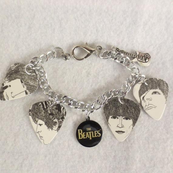 Beatles Charm Bracelet: Beatles Revolver Guitar Charm Bracelet By SharynKBeatlecrafts