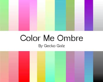 Color Me Ombre Digital Paper Pack