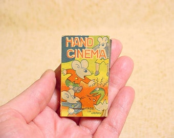 "Animated Flip Book 1940s Collectible Moving Cartoon Book Titled ""Hand Cinema"" Rare And Unique"