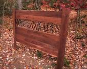 Rustic Bed Walnut Headboard Laurel Twig Log Cabin Cottage Bedroom Furniture by Jason Wade