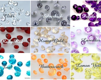 DIAMOND CONFETTI-7mm-Lots of Colors 1.50 Per Ounce-Vase Filler, Table Scatter, Table Gems, Wedding Centerpieces, Fast Shipping, Baby Shower