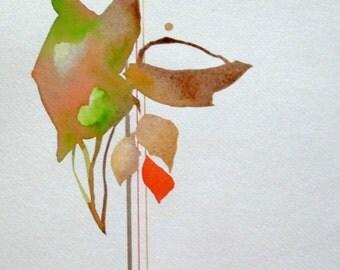 "Zen Impressions:  "" Simple Pleasures""  original one of a kind watercolor"